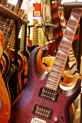 shop with guitars