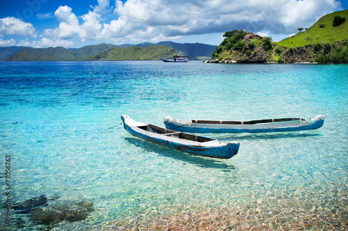 Canvas Indonesië Komodo National Park - islands paradise for diving and exploring