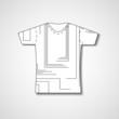 Abstract illustration on t-shirt
