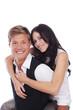 canvas print picture - Junges glückliches Paar Nahaufnahme