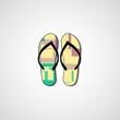 Abstract illustration on flip flops