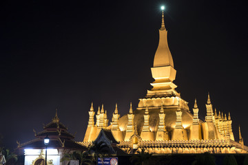Pha That Luang, Buddhist Temple in Vientiane Laos