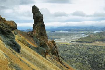 Curious rock formation in Bennisteinsalda