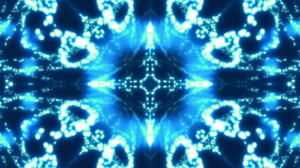 Blue VJ Particle Looping Chaos Abstract Animated Background