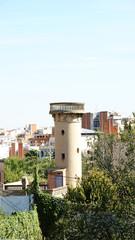 Torre del agua en el barrio de La Clota, Barcelona