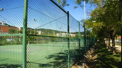 Pista de tenis en la Vall d'Hebrón, Barcelona