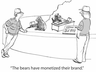 """The bears have monetized their brand."""