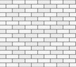 White brick wall vector seamless texture - 73059776