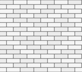 White brick wall vector seamless texture