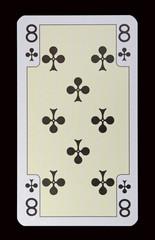 Spielkarten der Ladys - Kreuz Acht