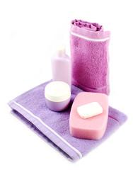 Towel, soap and sponge