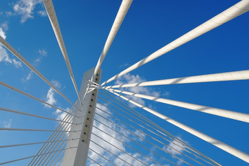Abstract Detail Bridge In Podgorica, Montenegro
