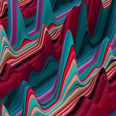 abstract colorful wavy lines, 3d background