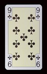 Spielkarten der Ladys - Kreuz Neun