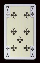 Spielkarten der Ladys - Kreuz Sieben