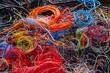 Leinwanddruck Bild - Kabel Recycling