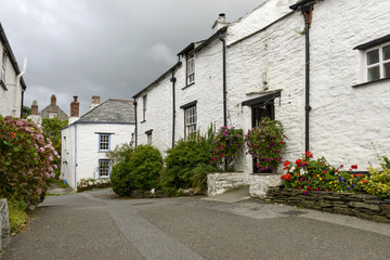 old houses at Boscastle, Cornwall