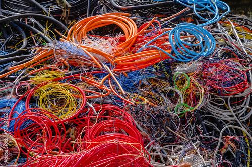 Leinwanddruck Bild Kabel Recycling