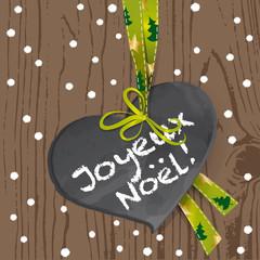 Joyeux Noel - Ardoise Coeur