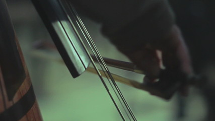 very close up commissures playing cello