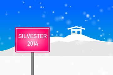 "ortsschild pink ""silvester 2014"""