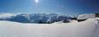 Leinwandbild Motiv Winterpanorama