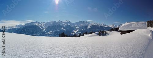canvas print picture Winterpanorama
