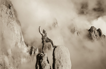 Climber on the mountain top.