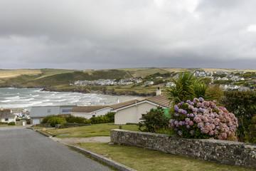 Polzeath and its bay, Cornwall
