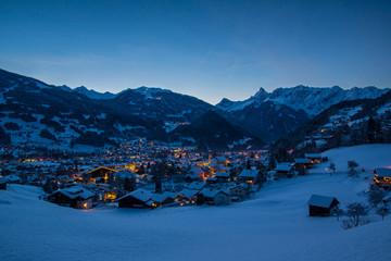 Bergdorf in den Alpen