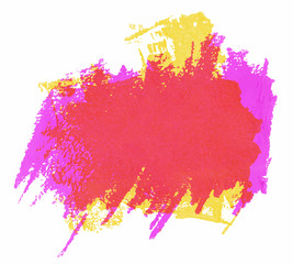Painted colorful watercolor brush strokes.