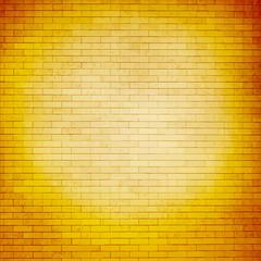 Bright orange brick wall