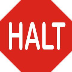Verkehrszeichen, Halt
