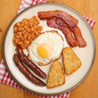 canvas print picture - Full English Cooked Breakfast