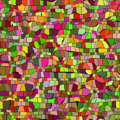 seameless green and red mosaic texture