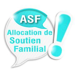 bulle rayée acronyme : ASF