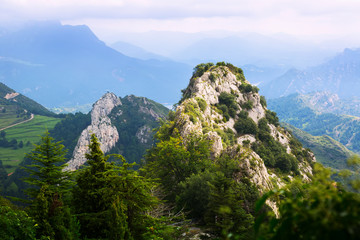 Rocky landscape of Pyrenees