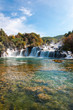 Leinwanddruck Bild - National park Krka, waterfalls, Croatia