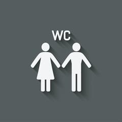 WC male and female symbol