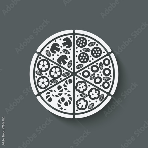 pizza design element - 73065162