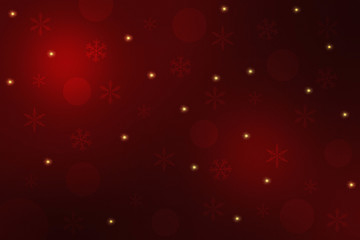 Dark red Christmas background with golden stars