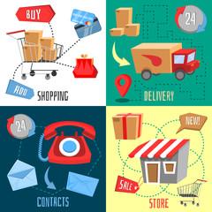 Design concept of e-commerce