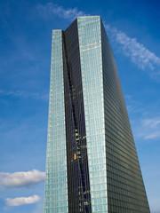 The new  European Central Bank Headquarters, ECB,Frankfurt