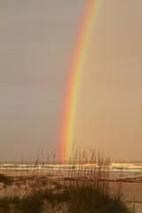 Beautiful rainbow at st. augustine beach