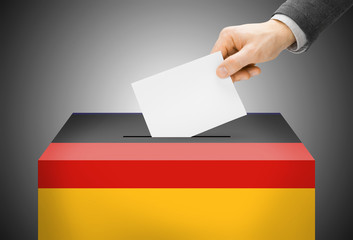 Ballot box painted into national flag colors - Germany