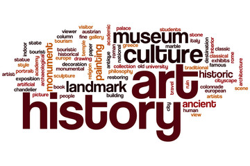 Art history word cloud