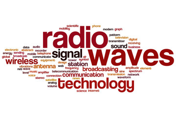 Radio waves word cloud