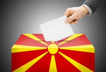 Ballot box as national flag - Republic of Macedonia