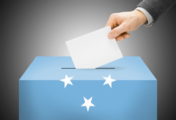 Ballot box as national flag - Federated States of Micronesia