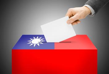 Ballot box as national flag - Republic of China - Taiwan